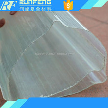 1.5mm thickness waterproof material frp roof sheet greenhouse for bus station