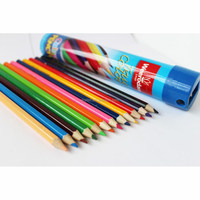 12 Color Pencils Packed In Pencil Shape Tube,Color Pencils