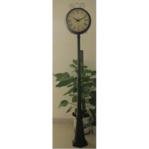 Outdoor Double Sided Clock Large Floor Standing Garden Street