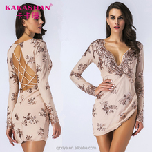 Women Sexy Celebrity Party Bandage Backless Evening Mini Sequin Dress Short