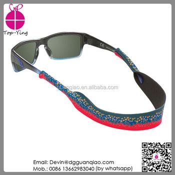 5d4b5569d1 Wholesale Price Neoprene Croakies Custom Elastic Sunglass Strap ...