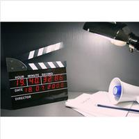 UCHOME Electronic LED Movie Clapper Board Gift Clock / 2019 Christmas Gift Items / Birthday Souvenirs