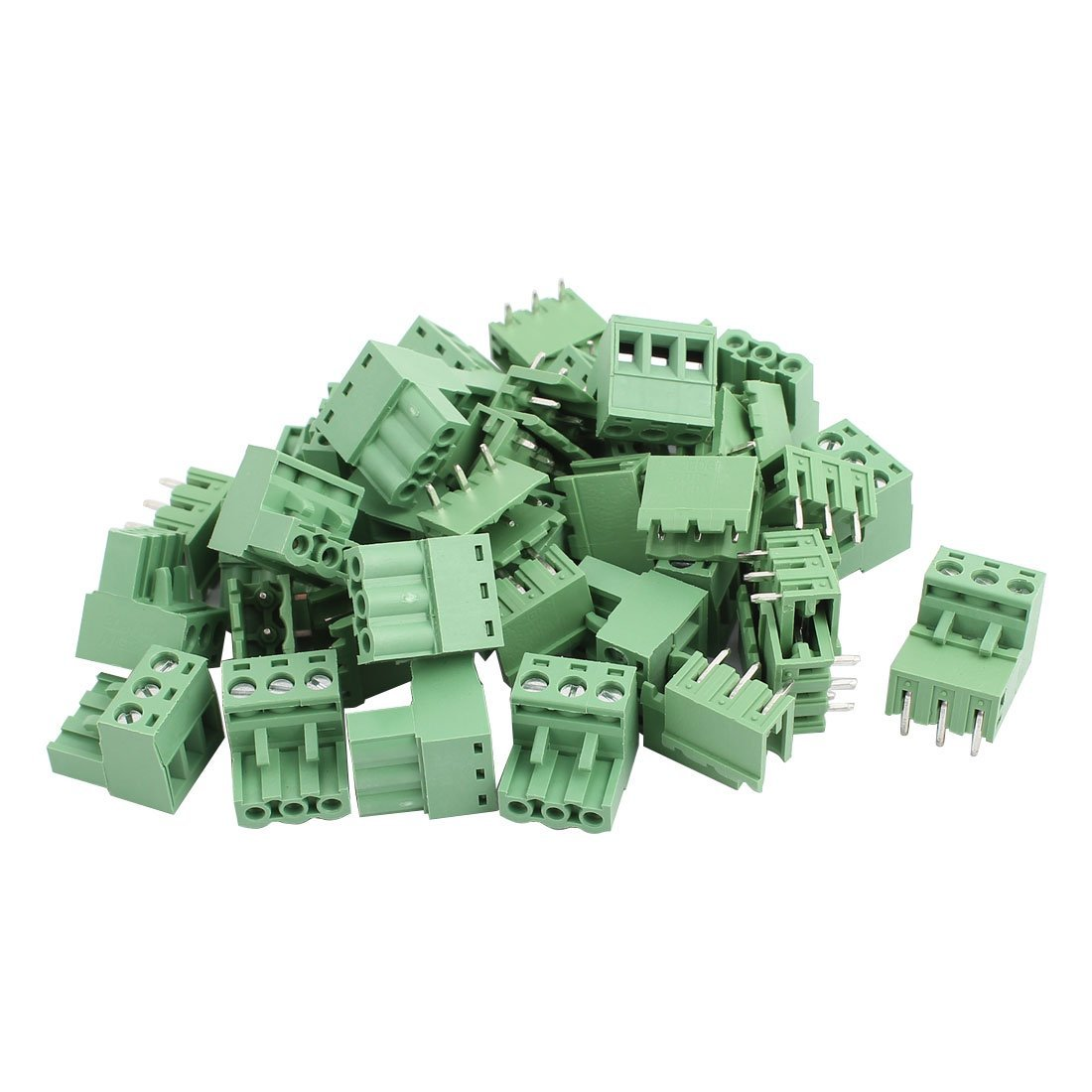 uxcell 22Pairs AC 300V 10A 3 Terminal 5.08mm Spacing PCB Screw Terminal Block Connector