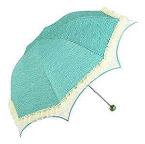 Biscount Princess Lace Parasol Sunblock Umbrella with Silver Lining - Uv Protection Umbrella for Rain or Sun-green