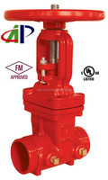 CHEAP FM/UL RISING STEM GROOVED END GATE VALVE FOR SALE