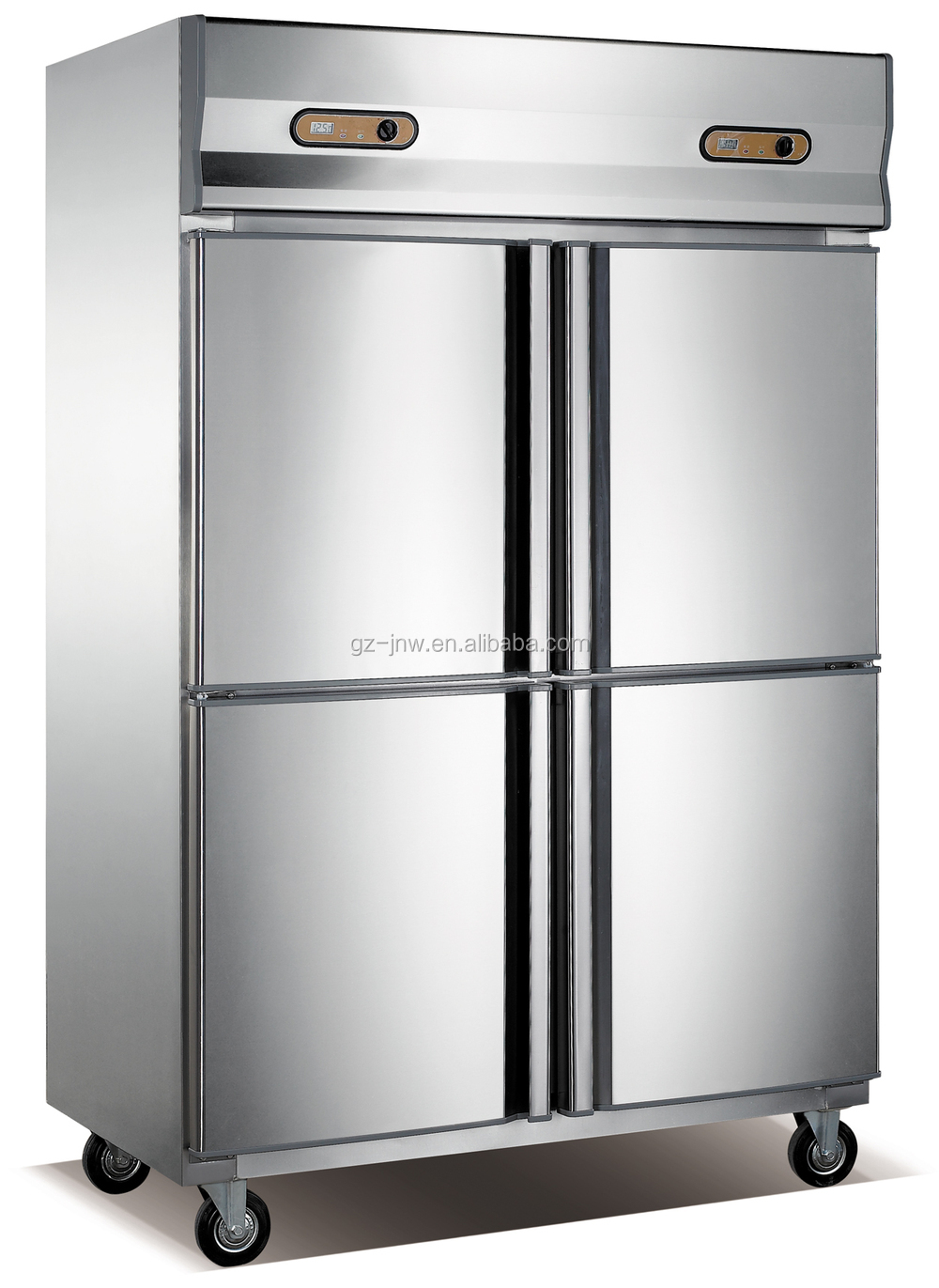 Restaurant Kitchen Refrigerator restaurant kitchen stainless steel 4 door freezer/ commercial side