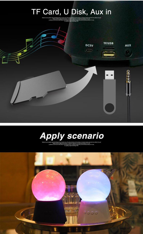 Tragbare Wireless Bluetooths Lautsprecher mit Farbe Wechselnden Lichter und Tanzen Wasser Funktion