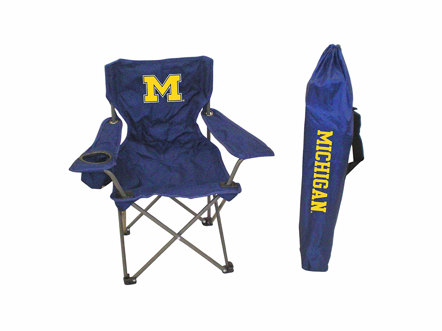 Rivalry NCAA Michigan Wolverines Youth Folding Chair With Carrying Case