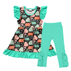 elephant outfits printed children's clothing fall boutique girl clothing wholesale children clothing