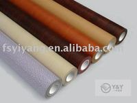Protective self adhesive wood grain rigid decorative pvc film for furniture