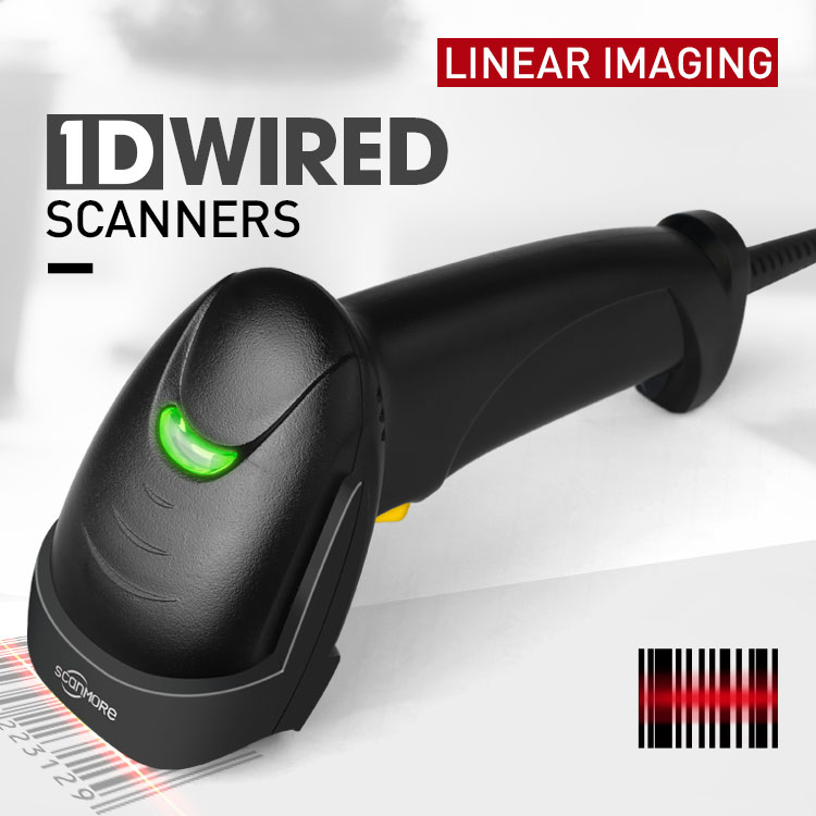 1d 2d 200/sec Supermarket Pos Wired Laser Usb Scan Bar Code Reader Handheld Barcode Scanner SM114H wifi