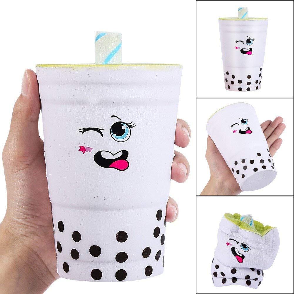 USHOT Clearance 16cm Jumbo Squishy Cute Milk Cups Cream Scented Squishies Slow Rising Charm Toy