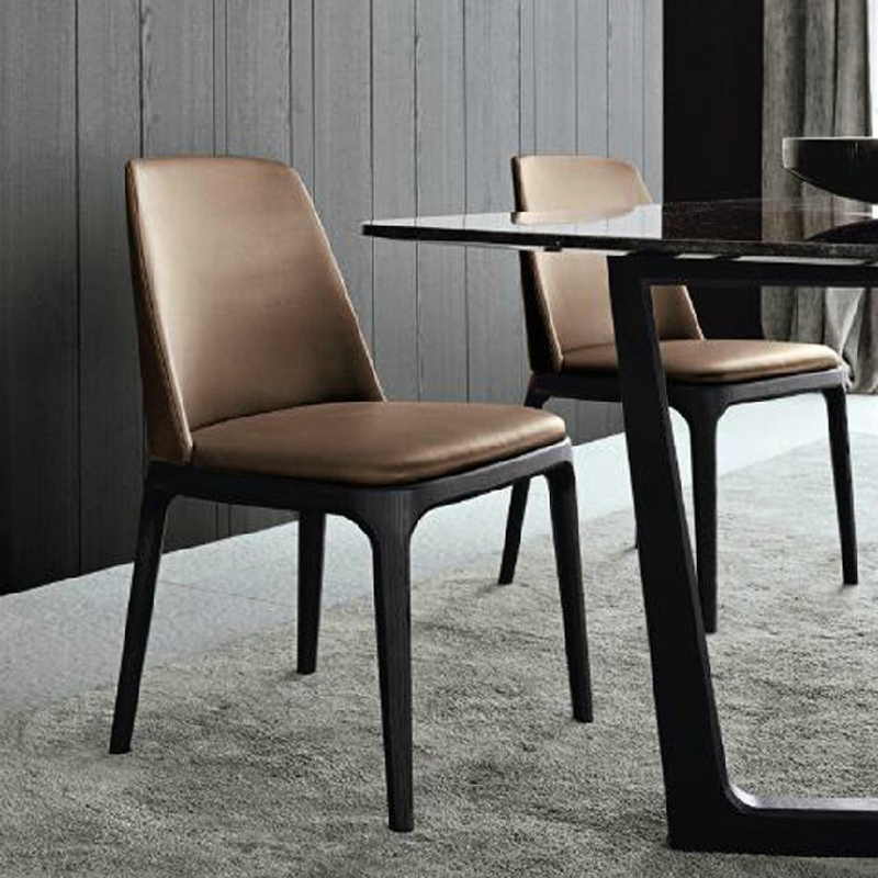 Brand Dinette Wood Dining Chair Fabric Stylish And