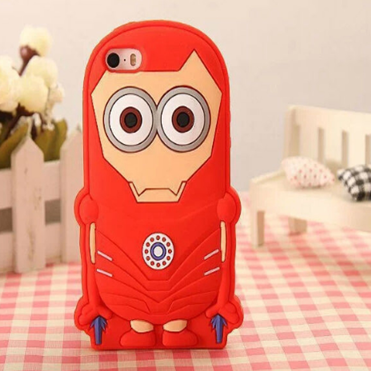 new hot cute 3D super hero silicone phone case for iPhone4/4s/5/5s