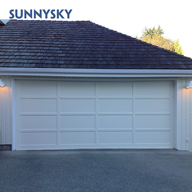 Customized double size low price sliding up aluminum garage door with pieces low cost
