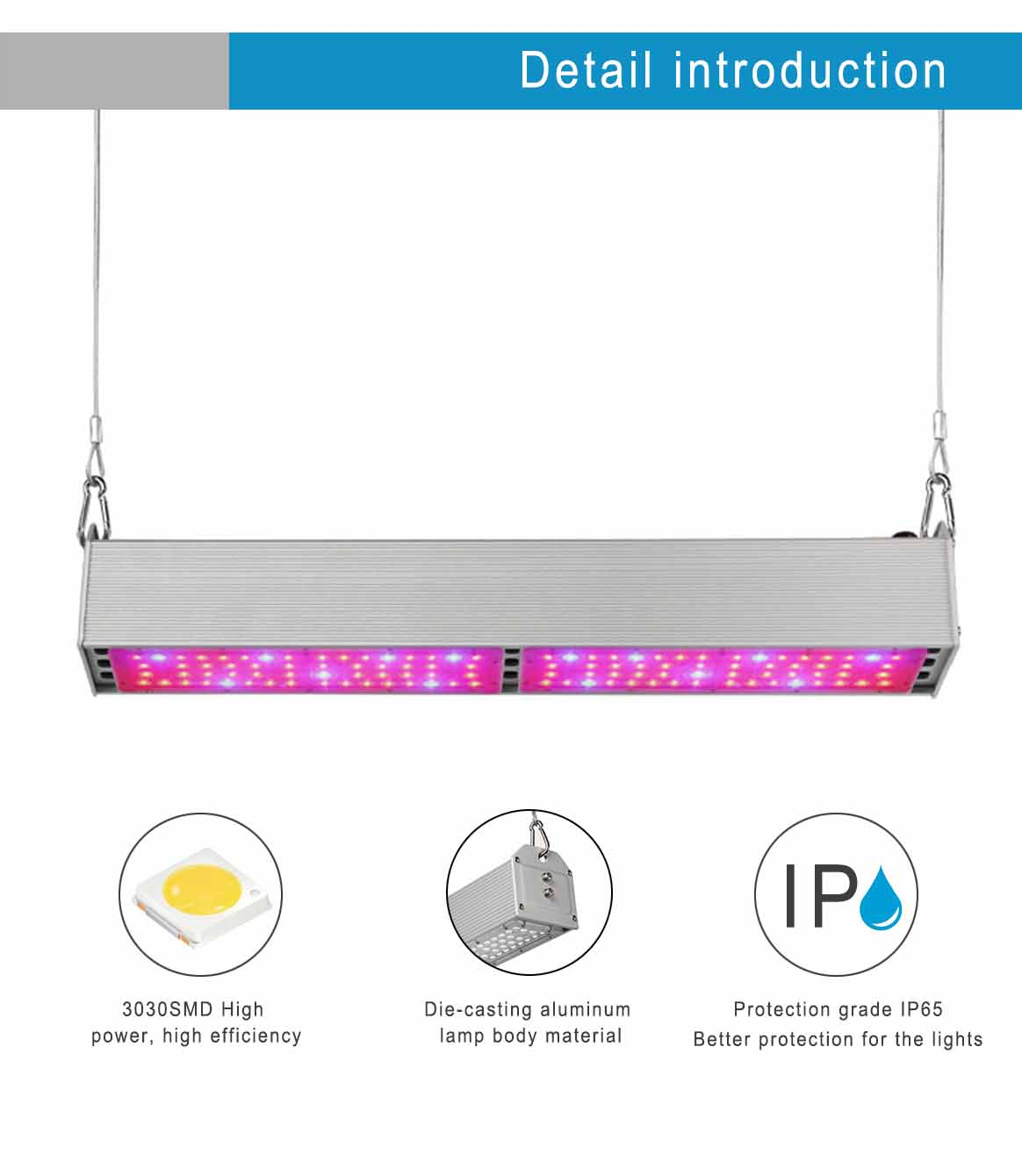 LED Linear  with IV UR Chips 390nm 730nm Plant Growing Light for Hydroponic Greenhouse full spectrum 11 band led grow lights