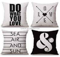 Hot sale custom made sublimation printed pillow case and cushion cover