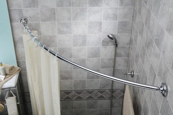 New Curved Shower Curtain Tension Rod