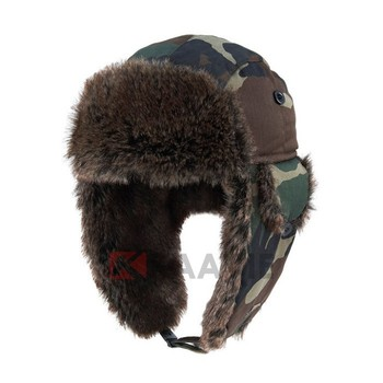 75f08232b7fcd russian military ushanka hat Aviator Bomber Faux Fur Winter Ski Trooper  Trapper Ear Flap Hat Cap