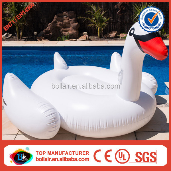 Factory supply cheap white giant inflatable swan