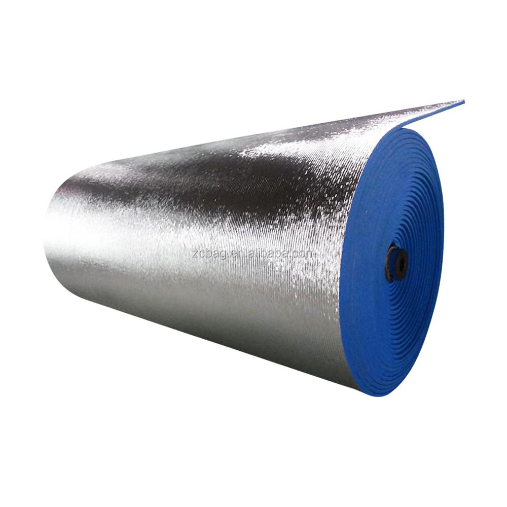 Самый дешевый пол огнеупорная стена строительство двойной алюминиевой фольги тканая ткань строительство теплоизоляционный материал