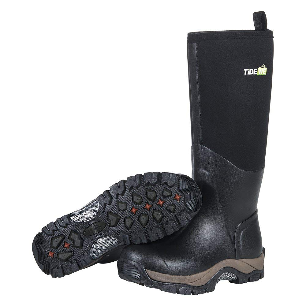a5f65fb9df773 Get Quotations · TideWe Muck Boots Men And Woman, Waterproof Durable  Insulated Neoprene Muck Boot, Rain Boot