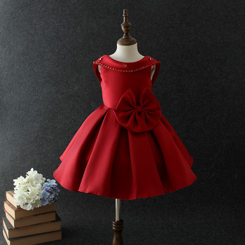4bf62847078 2018 high quality formal children s western gowns for kids girls dress  Vietnam red wedding party dress