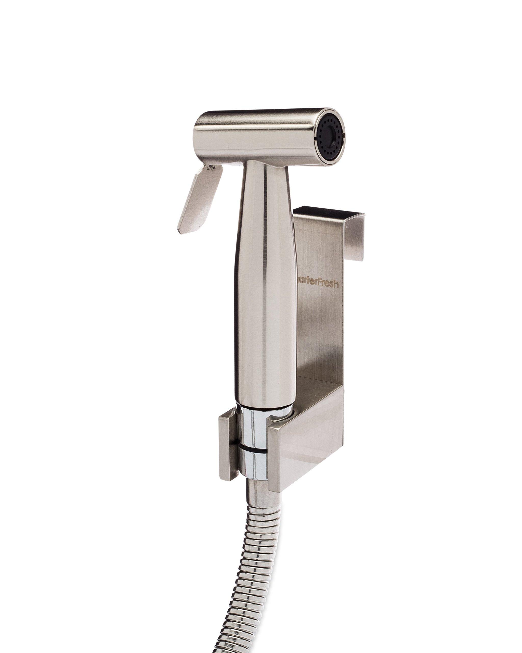 SmarterFresh Hand Held Brass Bidet Sprayer, Premium Brass Diaper Sprayer Shattaf - Complete Set for Toilet Hand Shower, Hand Bidet Toilet Attachment Sprayer