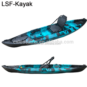 Fashion plastic fishing with chair single person kayak fishing boat