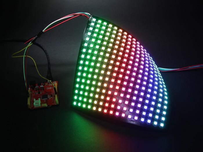 Prepare 8x8 LED Matrix test Sketch, walking bit - YouTube