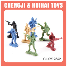 Plastic small figures military toy soldier force