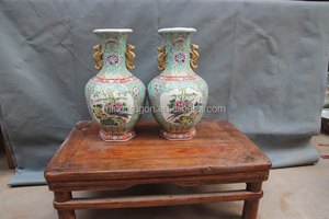 Chinese HIGH Antique Reproduction Qing Dynasty Ceramic Porcelain Vases Made From Jingdezhen