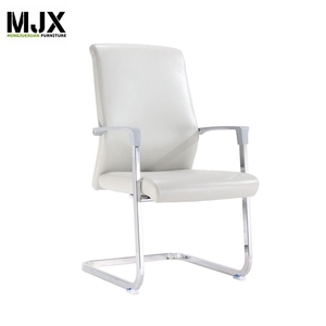 Chrome frame executive modern PU leather meeting chair
