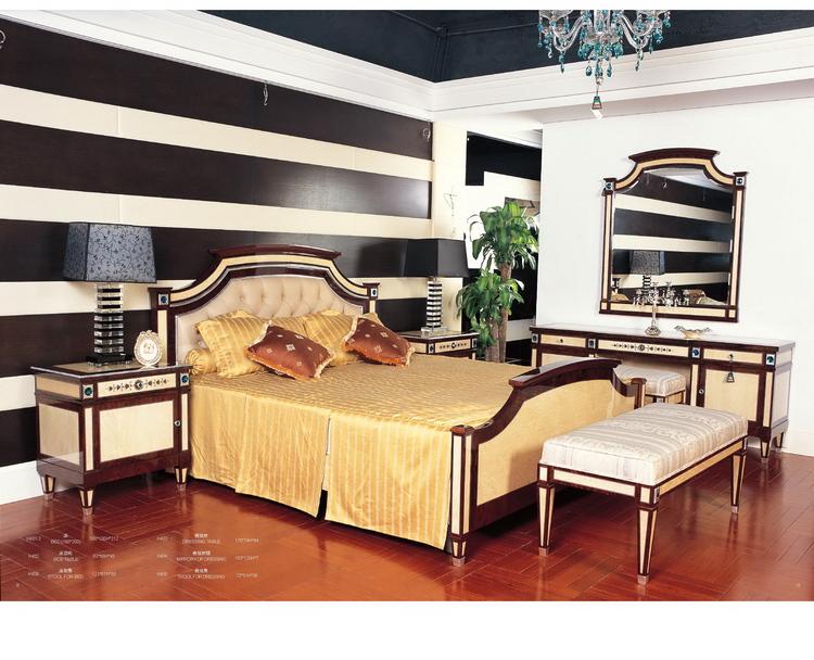 Slaapkamer Massief Hout : Volledige massief hout uitstekende kwaliteit meubels fabrieken