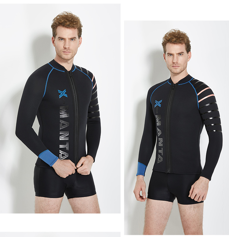 hot sale newest anti UV long sleeve 3mm neoprene men wetsuit for diving and surfing