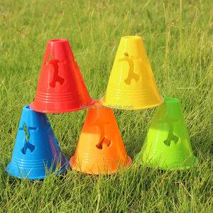 Colorful obstacle cone roller skating pile plastic roadblock small training cone
