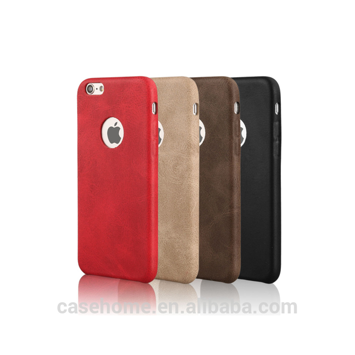 Hot selling Ultra-thin PU leather phone case for iPhone 6 7 with microfiber in side