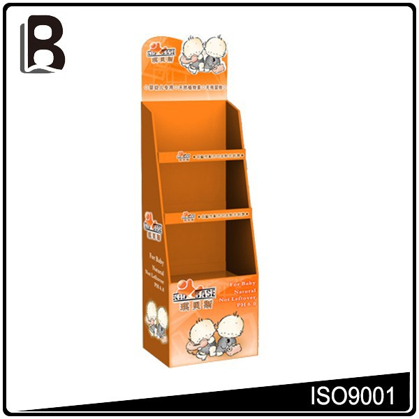 High quality floor stand rack paper counter retail display table
