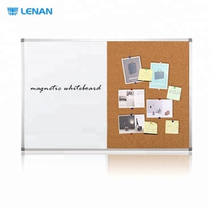 Wholesale Cheap New 2 in 1 Dry Erase Whiteboard and Pin Cork Board Combination Magnetic White board With Free Marker Pens