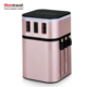 Universal power adapter Type C adapter fast charger with 3200mA and special luminous logo promotional gift