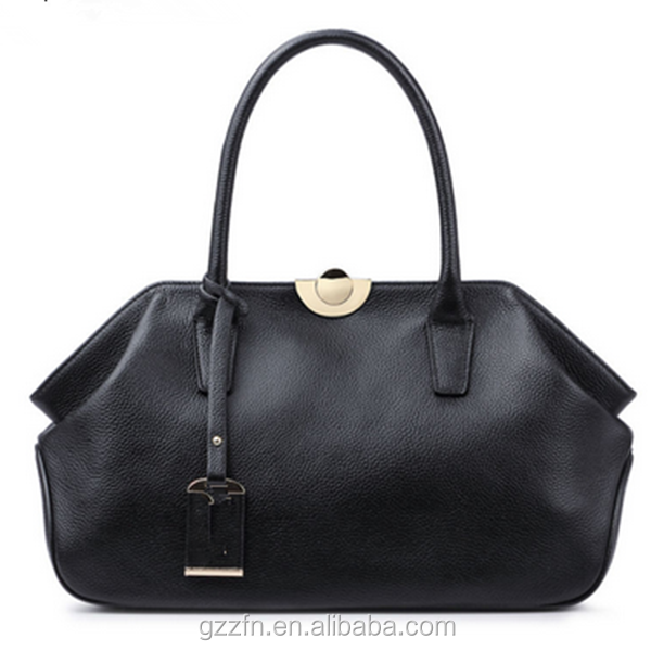 Leather Bags Ladies Bags Women Handbags High Quality Tote Bag for Women Black Fashion Clip Hobos