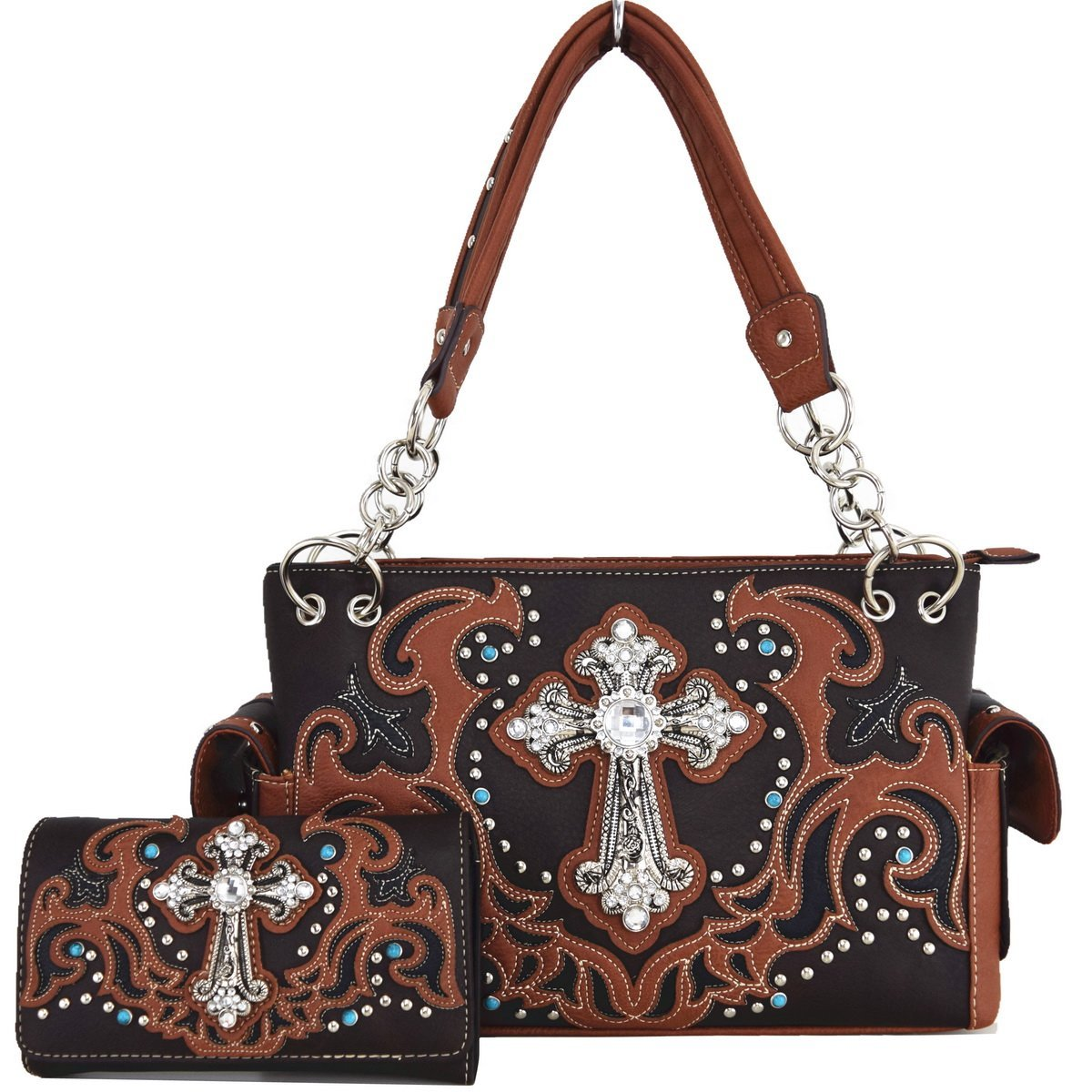 Blancho Bedding Womens [Religious] PU Leather Fashion Bag Elegant Purse