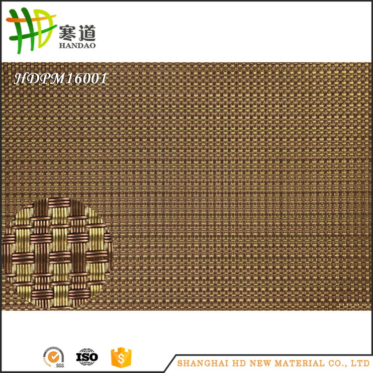 2016 restaurant pvc foam vinyl straw placemats wholesale