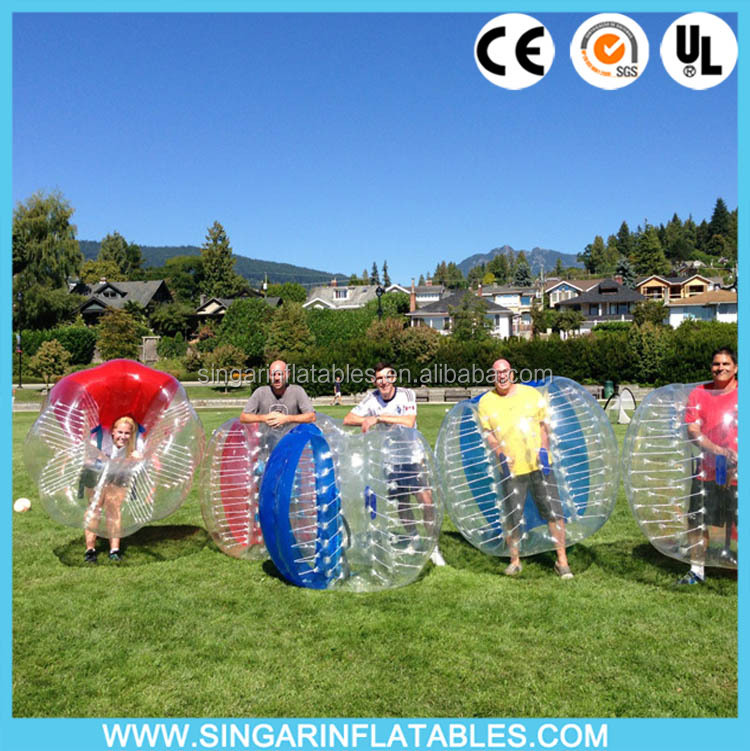 100% TPU bubble soccer suit human battle <strong>ball</strong> for outdoor sports cheap with a FREE Pump