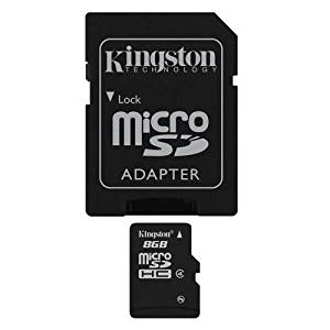 Professional Kingston MicroSDHC 8GB (8 Gigabyte) Card for Kodak EasyShare CD43 Camera Phone with custom formatting and Standard SD Adapter. (SDHC Class 4 Certified)