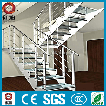 American Indoor Stainless Steel Glass Tread Stair Stairs Staircase