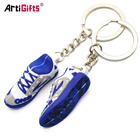 Factory direct sale custom mini shoes soft PVC 3d sneaker keychain