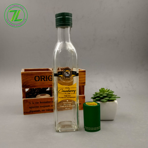 custom design clear 250ml square coconut oil packaging 8oz olive oil glass bottle with lids
