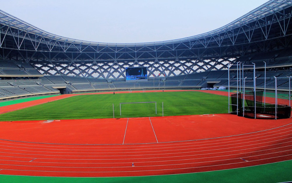 different types of space frame prefabricated steel truss stadium