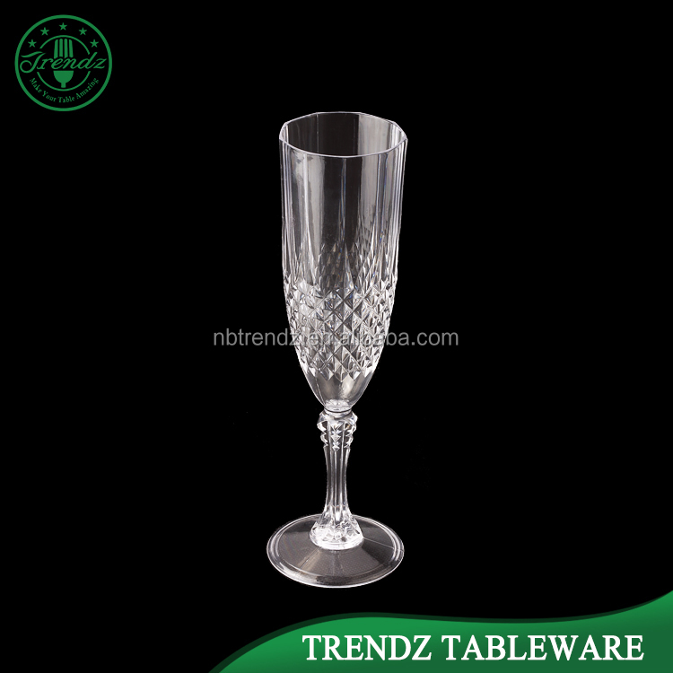 G101 Fancy Crystal Wedding Party Used Plastic Champagne Flutes